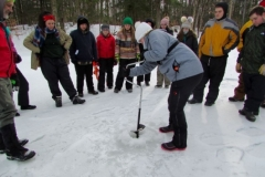 Ice Auger Demonstration