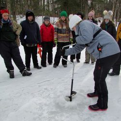 Copper Cannon Camp Outdoor Education - Ice Auger Demonstration