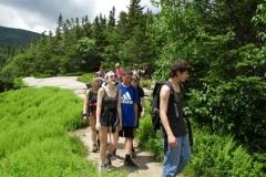 Hiking back down